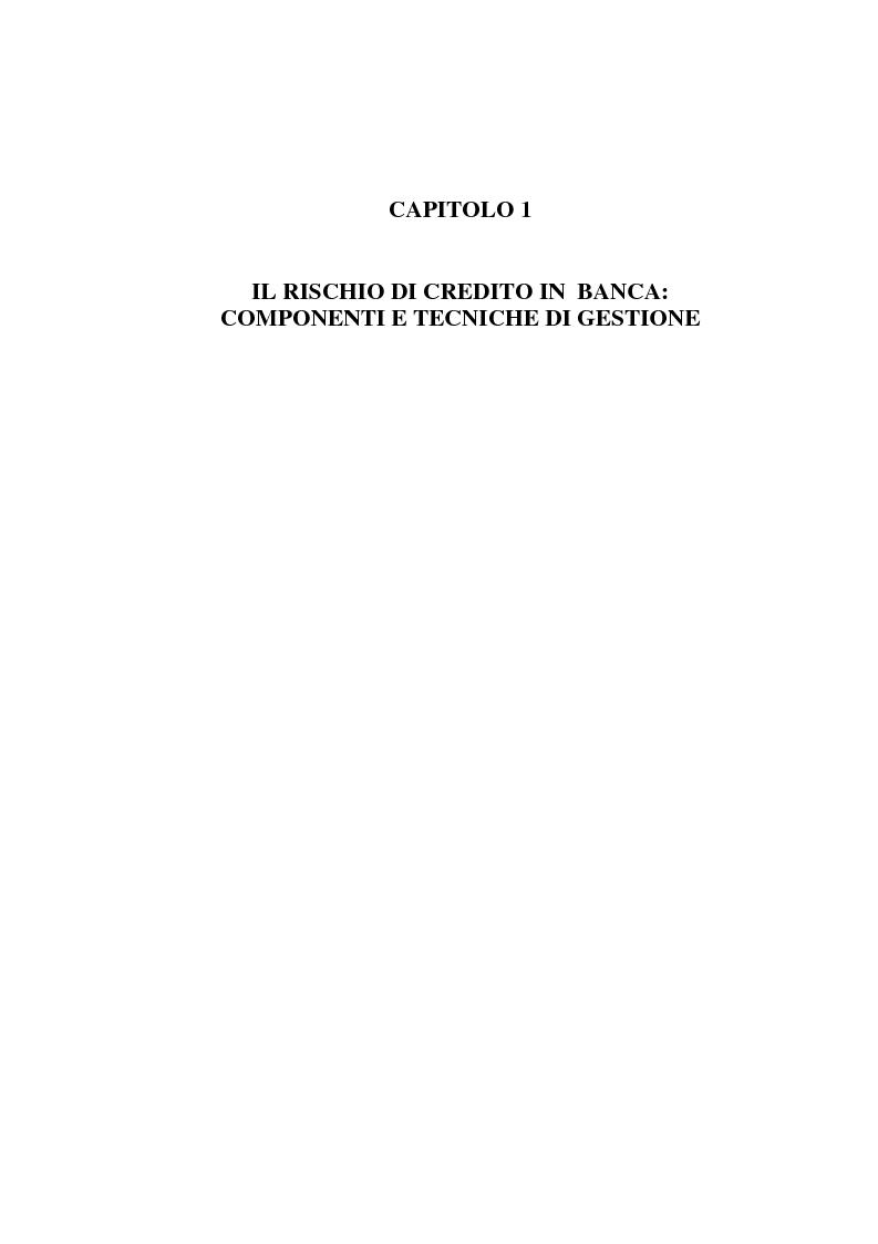 Anteprima della tesi: La gestione del rischio di credito nel Nuovo Accordo sul Capitale. L'impatto su alcuni archetipi finanziari, Pagina 4