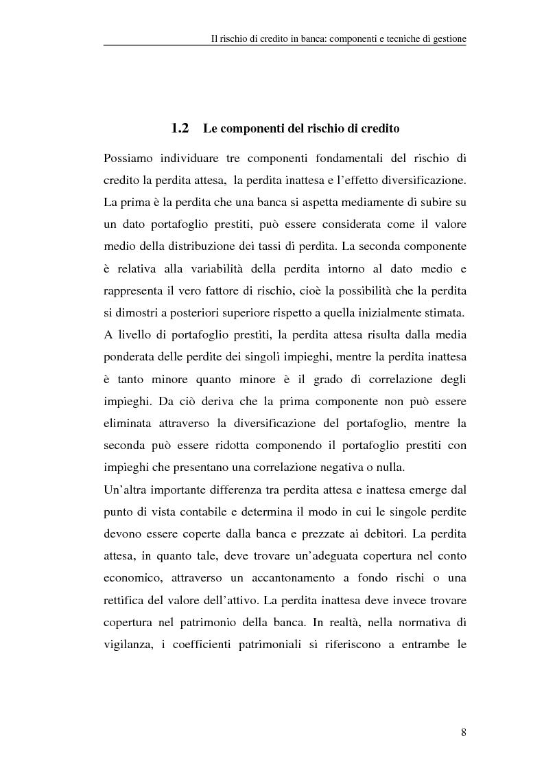 Anteprima della tesi: La gestione del rischio di credito nel Nuovo Accordo sul Capitale. L'impatto su alcuni archetipi finanziari, Pagina 8