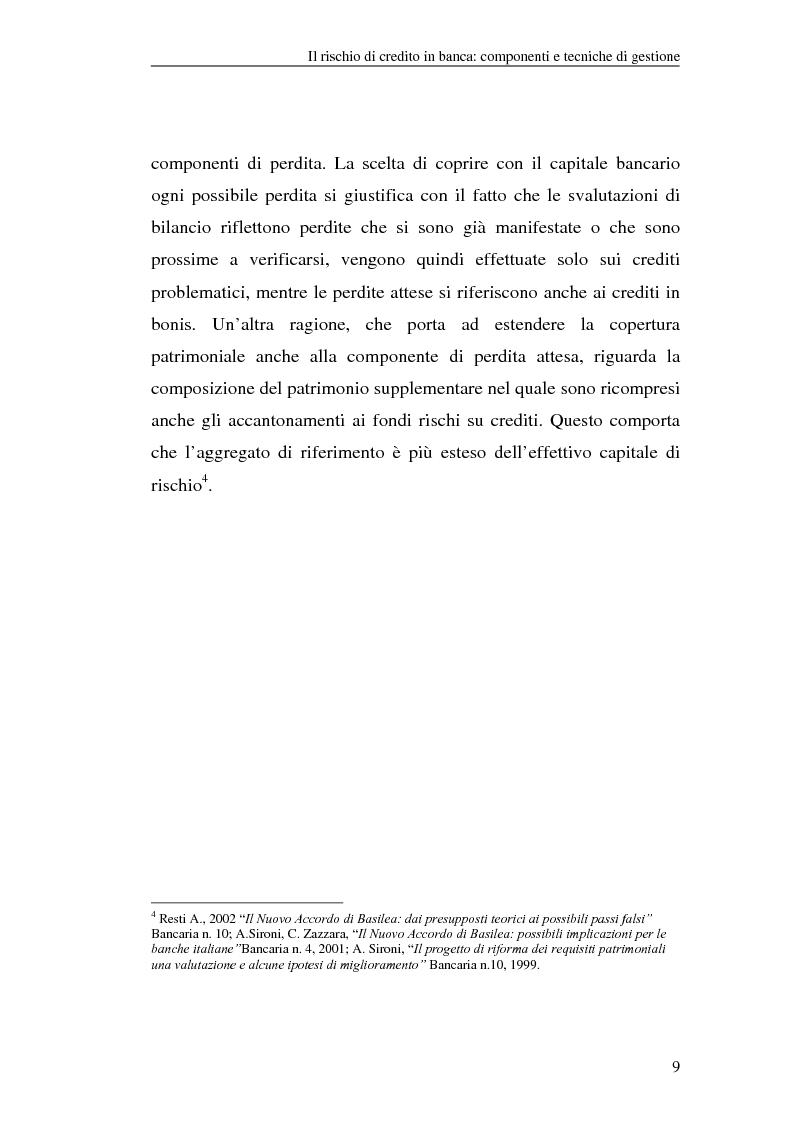Anteprima della tesi: La gestione del rischio di credito nel Nuovo Accordo sul Capitale. L'impatto su alcuni archetipi finanziari, Pagina 9