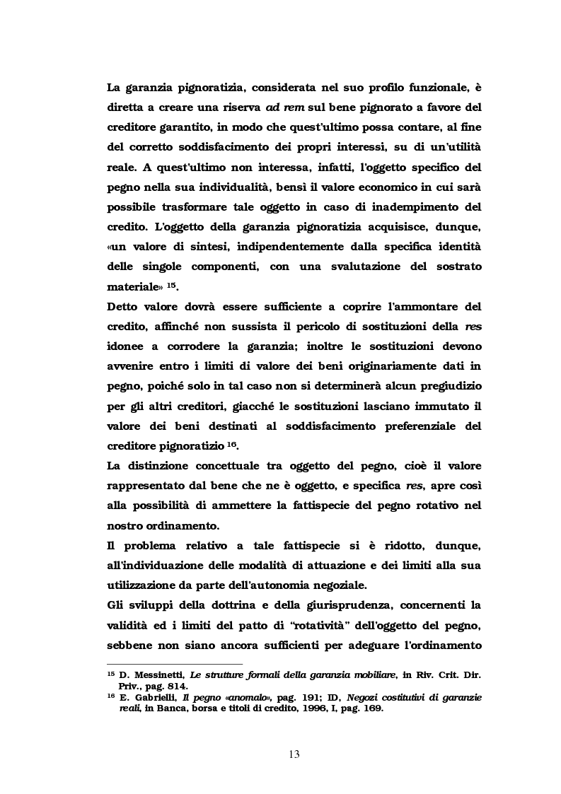 Anteprima della tesi: Il pegno rotativo, Pagina 11