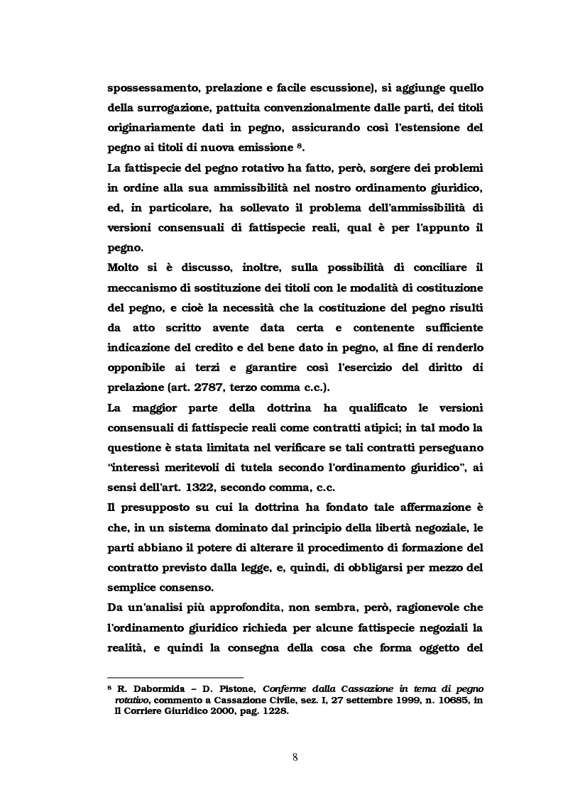 Anteprima della tesi: Il pegno rotativo, Pagina 6