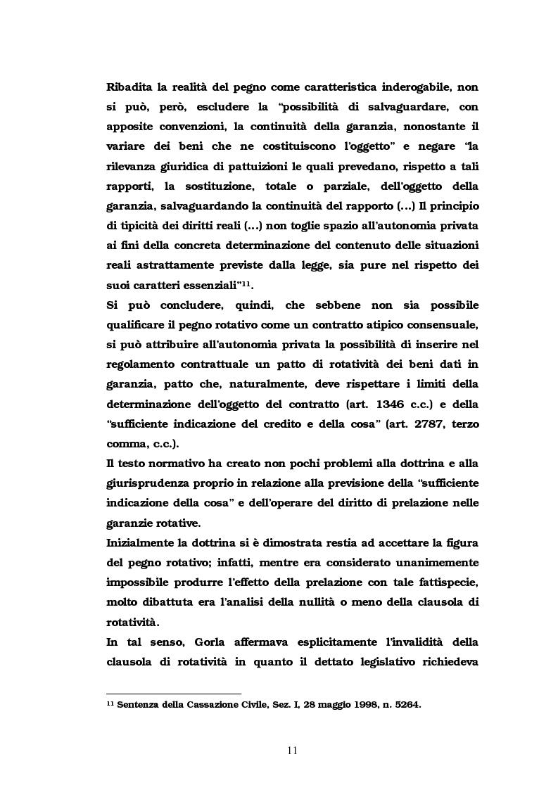 Anteprima della tesi: Il pegno rotativo, Pagina 9