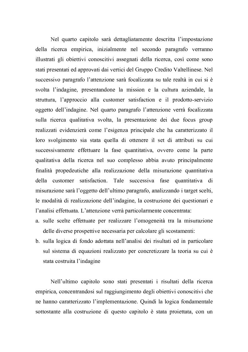 Anteprima della tesi: La misurazione della soddisfazione del cliente (customer satisfaction): una verifica empirica nel settore delle carte prepagate ricaricabili, Pagina 9