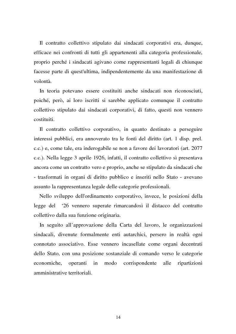 Anteprima della tesi: Il problema dell'efficacia soggettiva dei contratti collettivi, Pagina 10