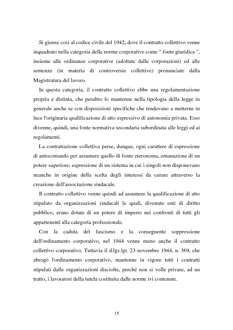 Anteprima della tesi: Il problema dell'efficacia soggettiva dei contratti collettivi, Pagina 11