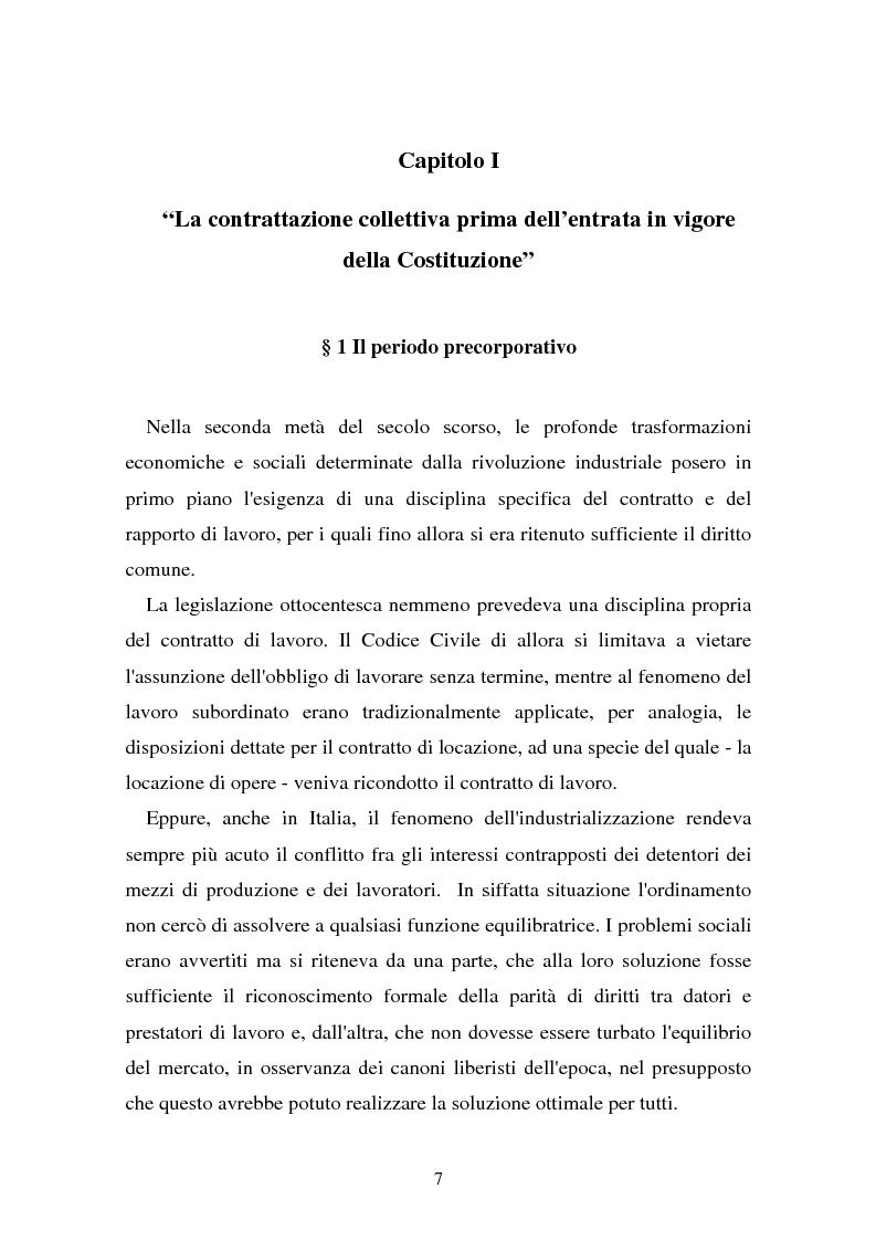 Anteprima della tesi: Il problema dell'efficacia soggettiva dei contratti collettivi, Pagina 3