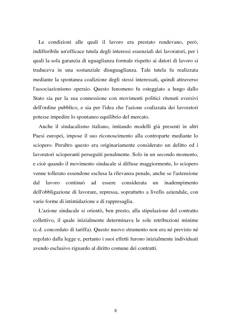 Anteprima della tesi: Il problema dell'efficacia soggettiva dei contratti collettivi, Pagina 4