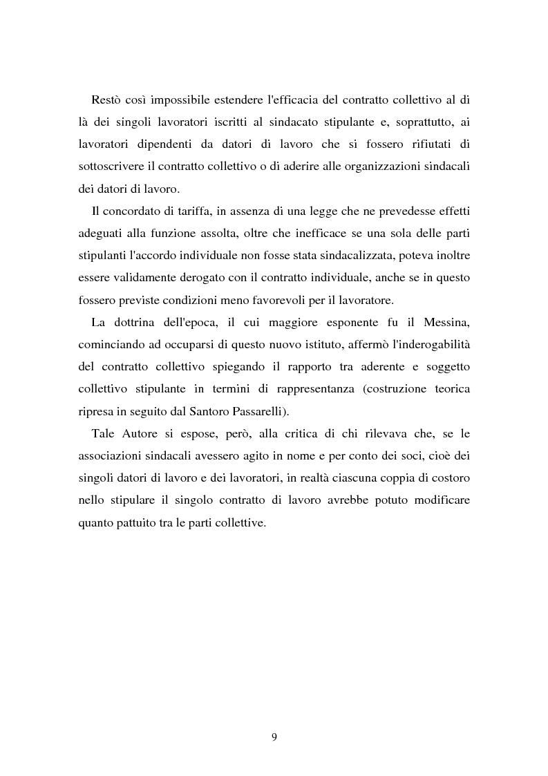 Anteprima della tesi: Il problema dell'efficacia soggettiva dei contratti collettivi, Pagina 5
