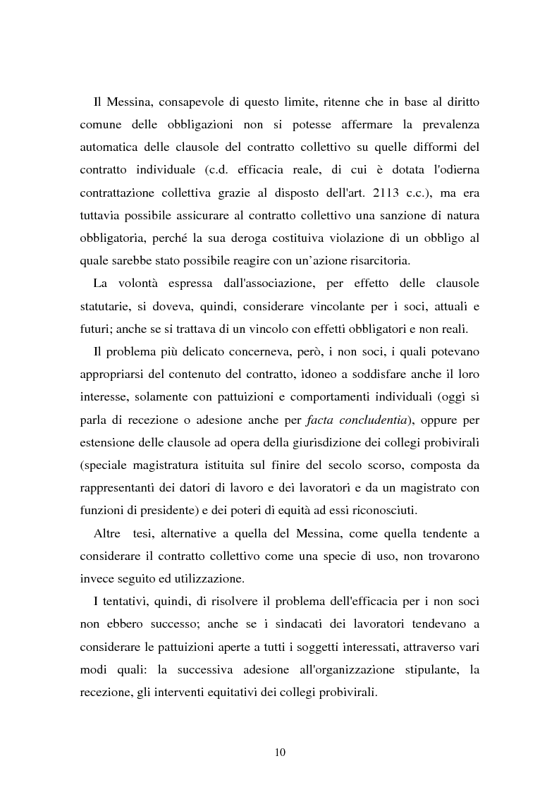 Anteprima della tesi: Il problema dell'efficacia soggettiva dei contratti collettivi, Pagina 6