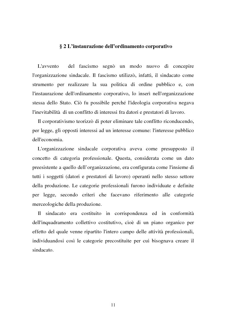 Anteprima della tesi: Il problema dell'efficacia soggettiva dei contratti collettivi, Pagina 7
