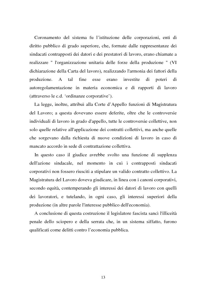 Anteprima della tesi: Il problema dell'efficacia soggettiva dei contratti collettivi, Pagina 9