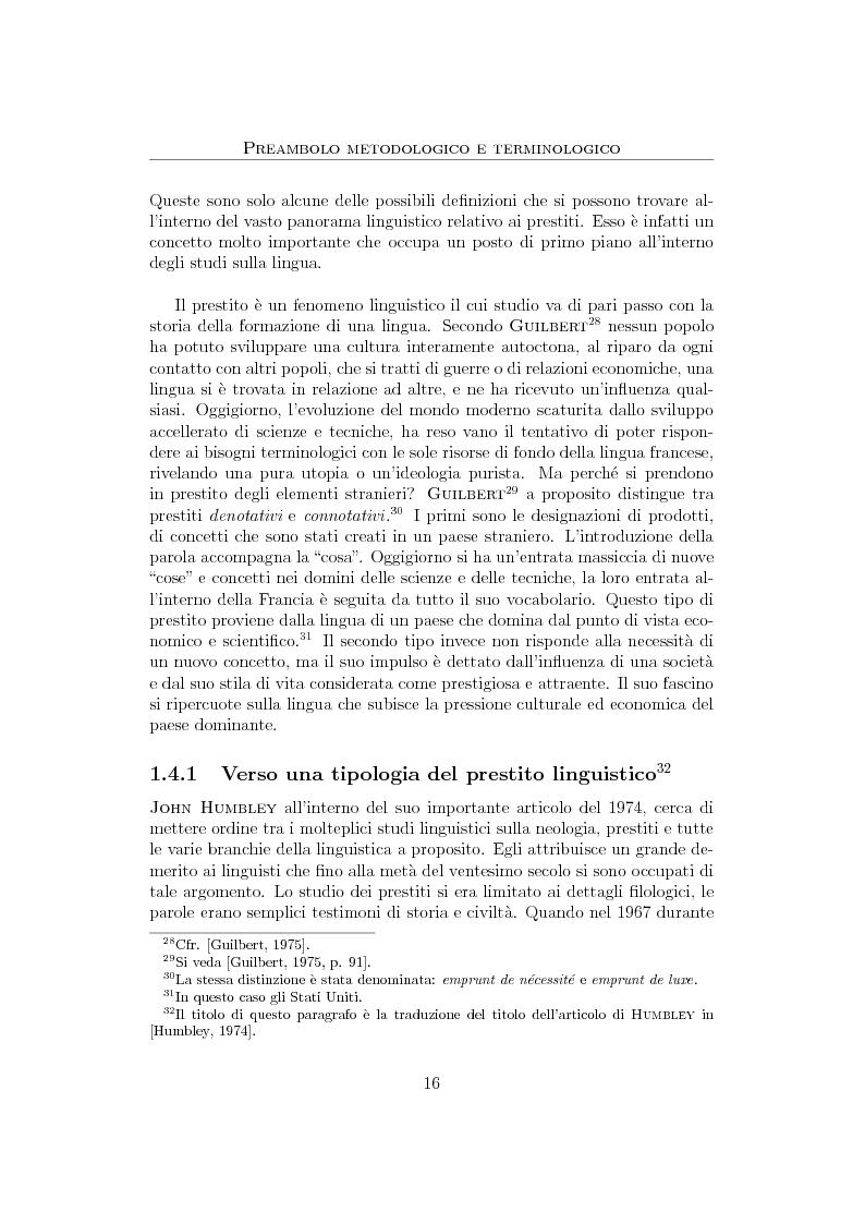 Anteprima della tesi: Anglicismi nel francese contemporaneo: tecniche di ricerca computazionale su un corpus giornalistico, Pagina 14