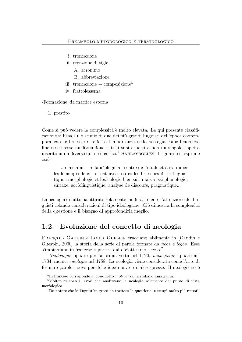 Anteprima della tesi: Anglicismi nel francese contemporaneo: tecniche di ricerca computazionale su un corpus giornalistico, Pagina 8
