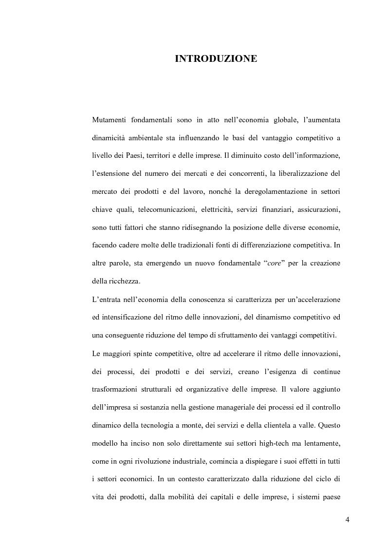 Anteprima della tesi: L'Economia della Conoscenza. Il distretto ICT Torino Wireless, Pagina 1