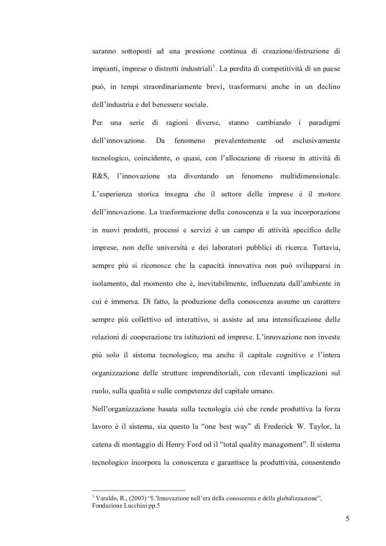 Anteprima della tesi: L'Economia della Conoscenza. Il distretto ICT Torino Wireless, Pagina 2