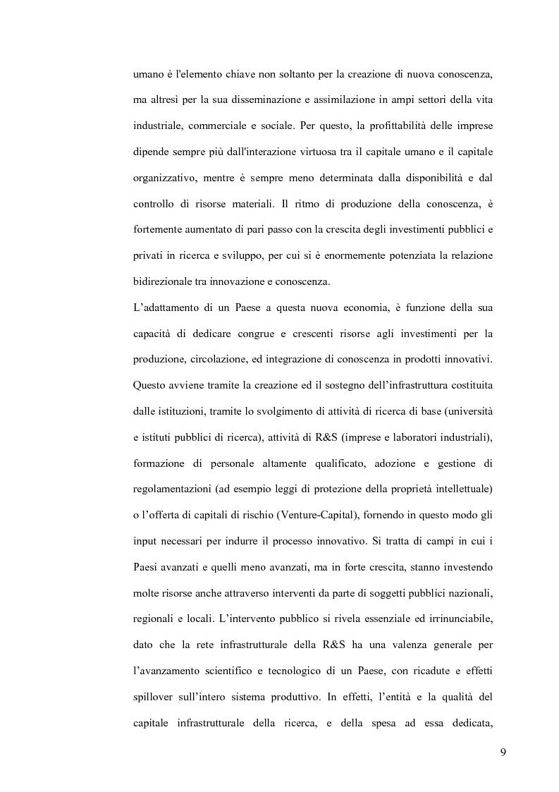 Anteprima della tesi: L'Economia della Conoscenza. Il distretto ICT Torino Wireless, Pagina 6
