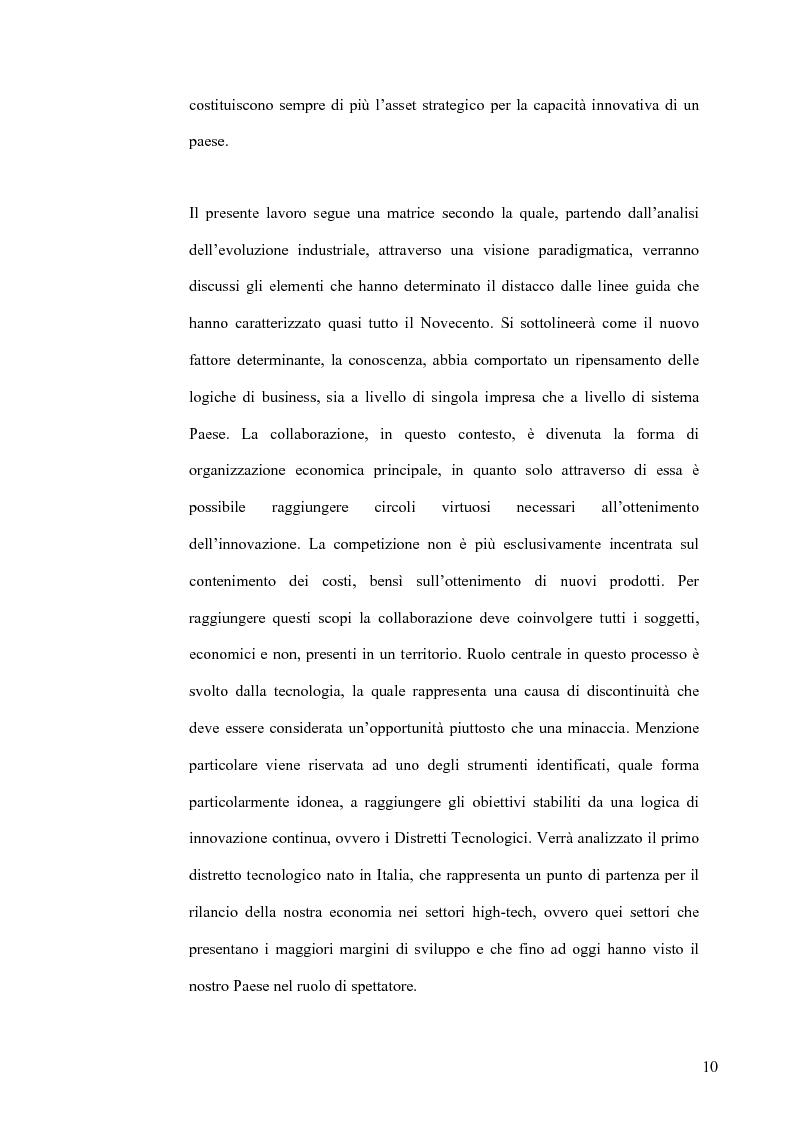 Anteprima della tesi: L'Economia della Conoscenza. Il distretto ICT Torino Wireless, Pagina 7
