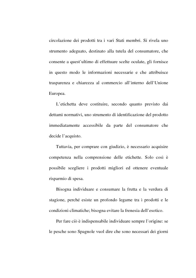 Anteprima della tesi: L'etichetta come vantaggio competitivo per le imprese alimentari, Pagina 3