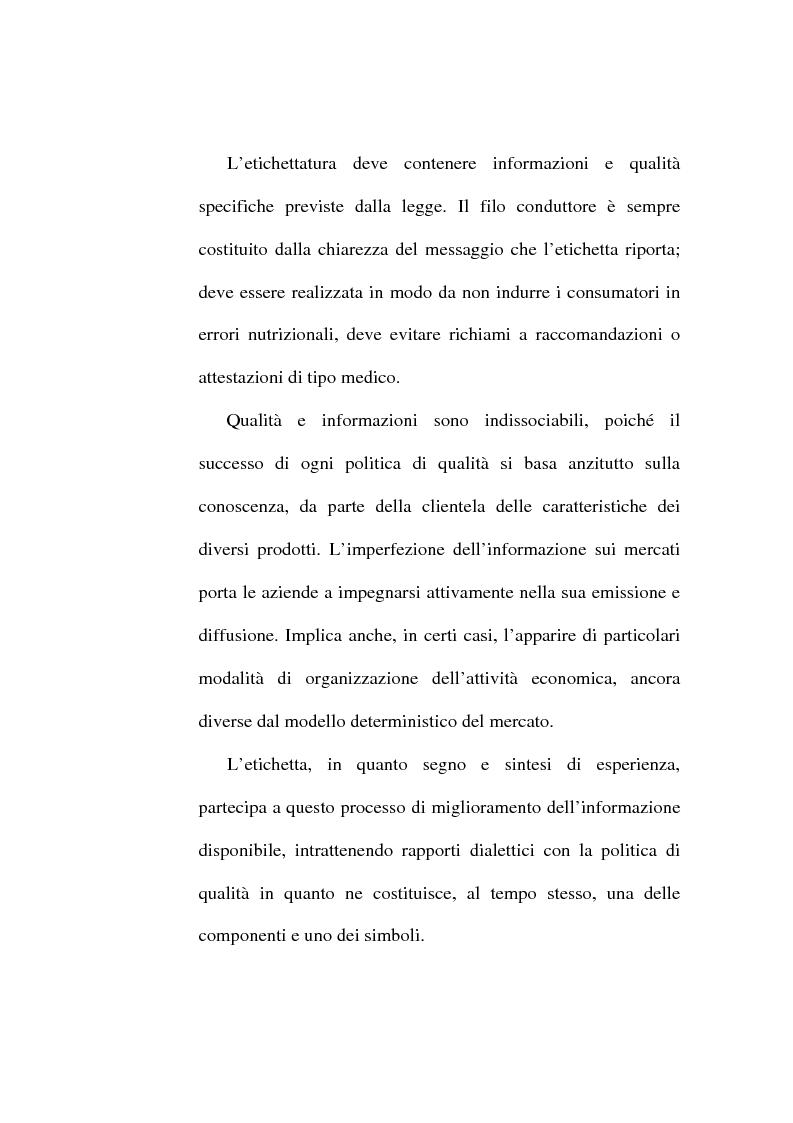 Anteprima della tesi: L'etichetta come vantaggio competitivo per le imprese alimentari, Pagina 9