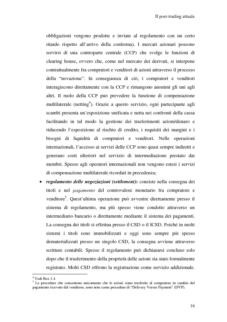Anteprima della tesi: L'integrazione dei sistemi di post-trading in Europa: un'analisi economica, Pagina 10