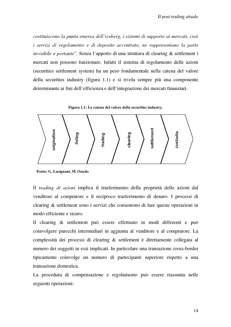 Anteprima della tesi: L'integrazione dei sistemi di post-trading in Europa: un'analisi economica, Pagina 8