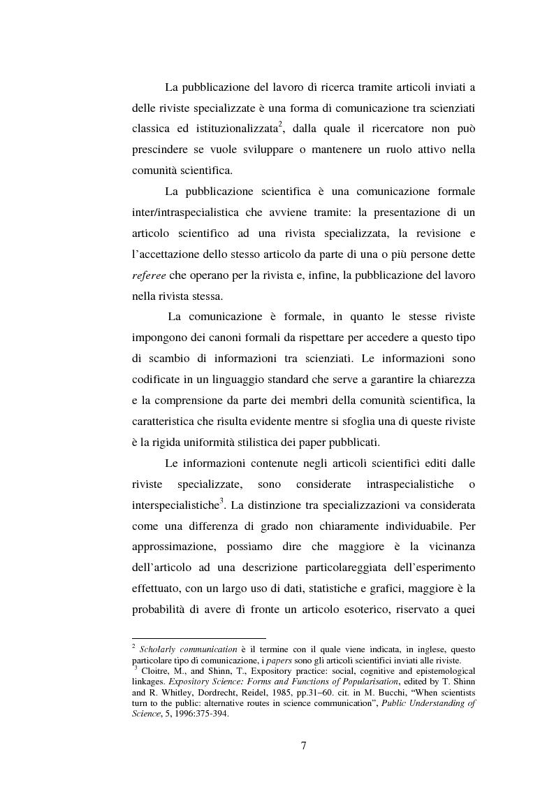 Anteprima della tesi: Internet e le pubblicazioni scientifiche. La Journals Crisis e la comunicazione tra scienziati, Pagina 4