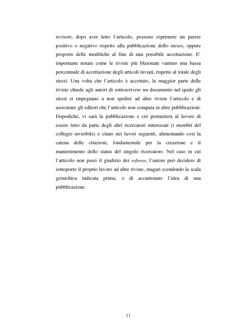 Anteprima della tesi: Internet e le pubblicazioni scientifiche. La Journals Crisis e la comunicazione tra scienziati, Pagina 8