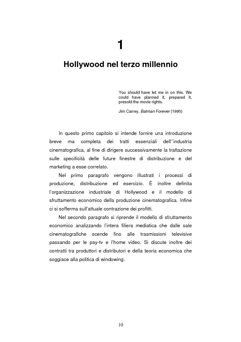 Anteprima della tesi: L'industria cinematografica di Hollywood nell'era di Internet. La strategia della Warner Bros. per il lancio di The Matrix Reloaded, Pagina 3