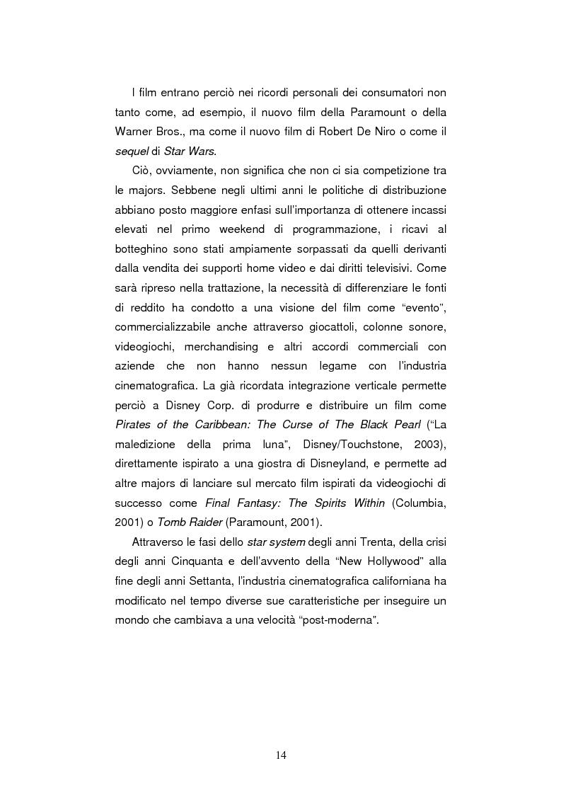 Anteprima della tesi: L'industria cinematografica di Hollywood nell'era di Internet. La strategia della Warner Bros. per il lancio di The Matrix Reloaded, Pagina 7