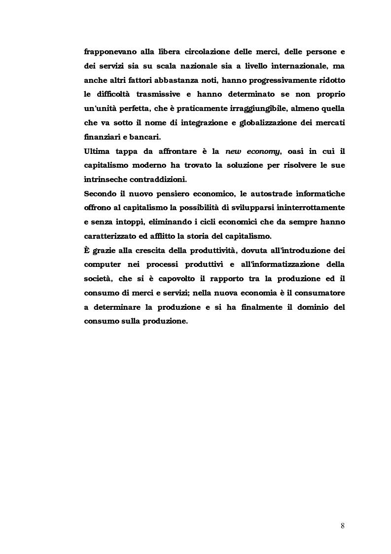 Anteprima della tesi: Iter Intra intermediationem: evoluzione dei mercati sino all'avvento della New Economy, Pagina 4