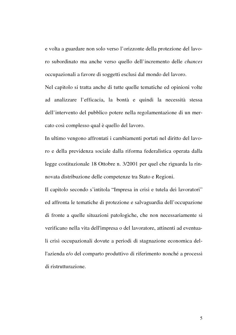 Anteprima della tesi: Intervento pubblico e tutela dell'occupazione, Pagina 2