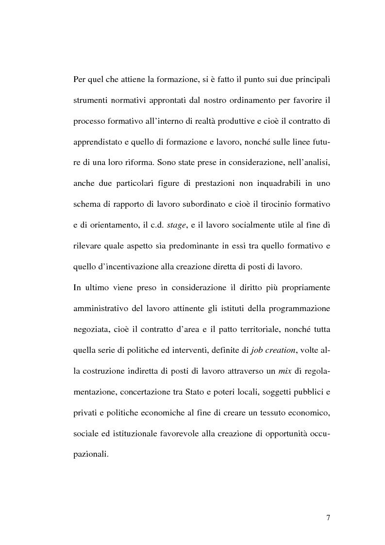 Anteprima della tesi: Intervento pubblico e tutela dell'occupazione, Pagina 4