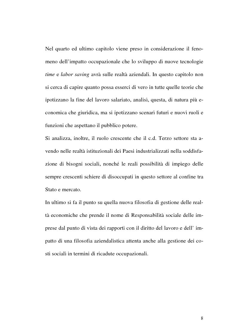Anteprima della tesi: Intervento pubblico e tutela dell'occupazione, Pagina 5
