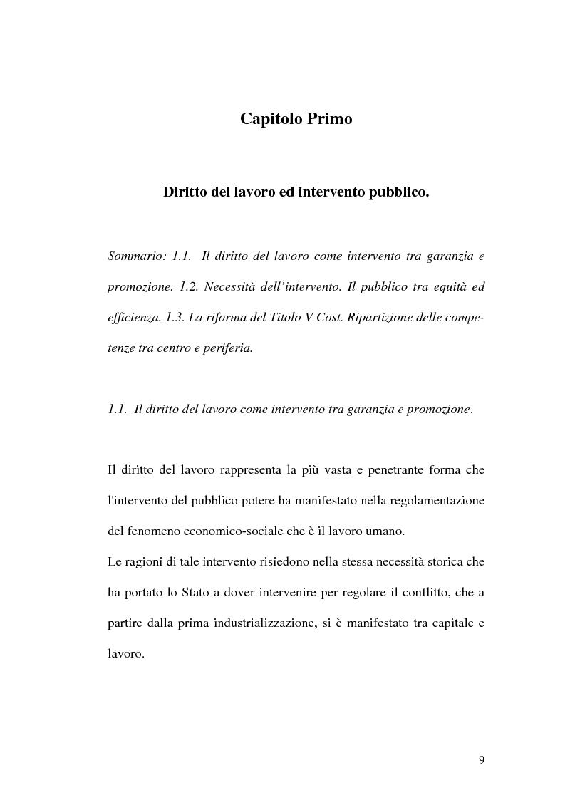 Anteprima della tesi: Intervento pubblico e tutela dell'occupazione, Pagina 6