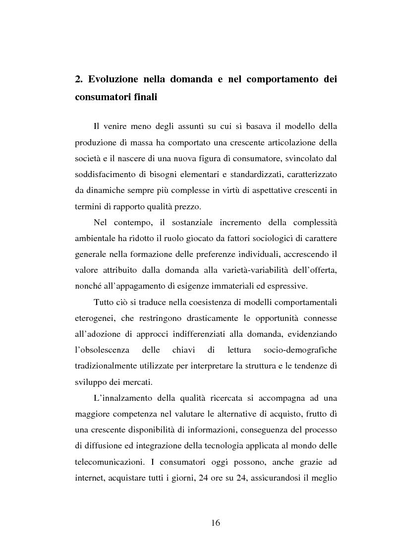 Anteprima della tesi: Micromarketing e carta fedeltà nella distribuzione moderna, Pagina 10