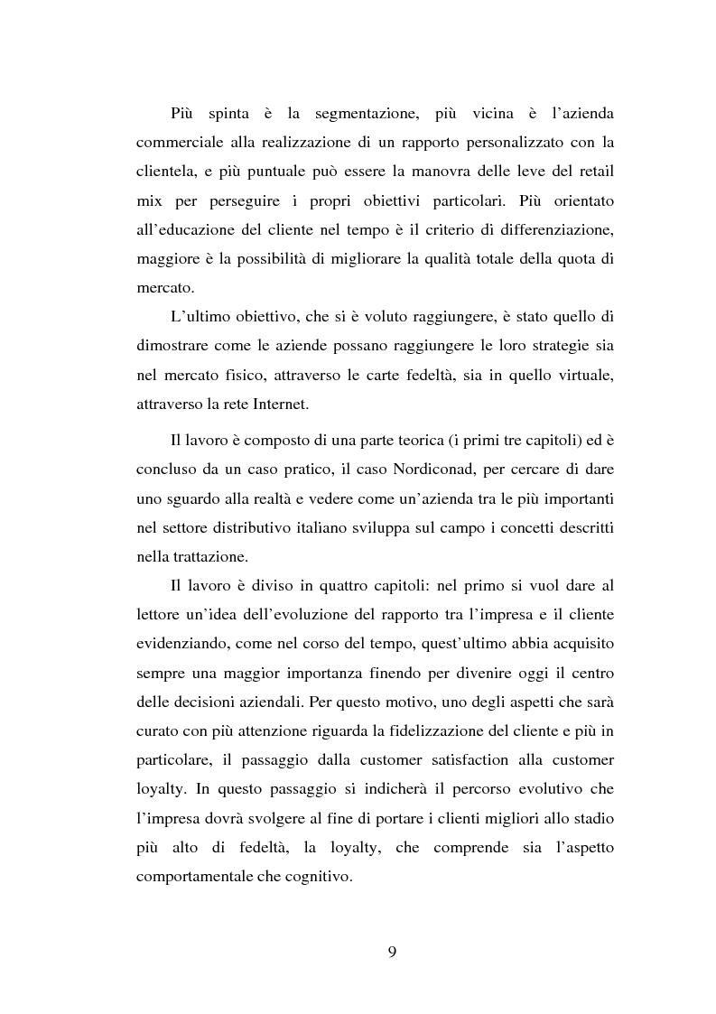 Anteprima della tesi: Micromarketing e carta fedeltà nella distribuzione moderna, Pagina 3