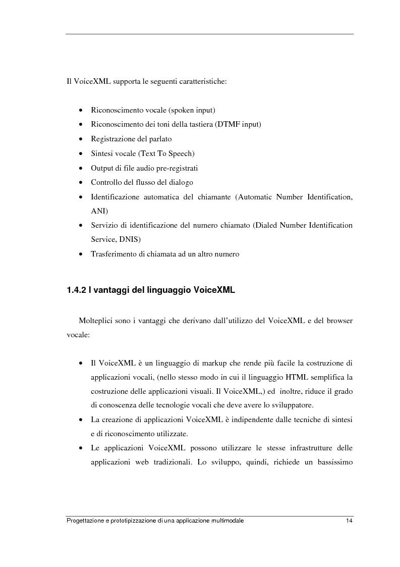 Anteprima della tesi: Progettazione e prototipizzazione di una applicazione multimodale, Pagina 10