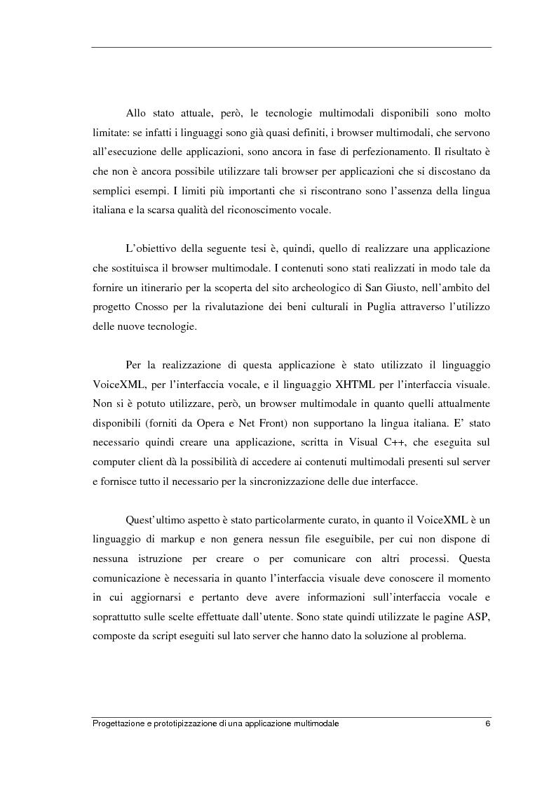 Anteprima della tesi: Progettazione e prototipizzazione di una applicazione multimodale, Pagina 2