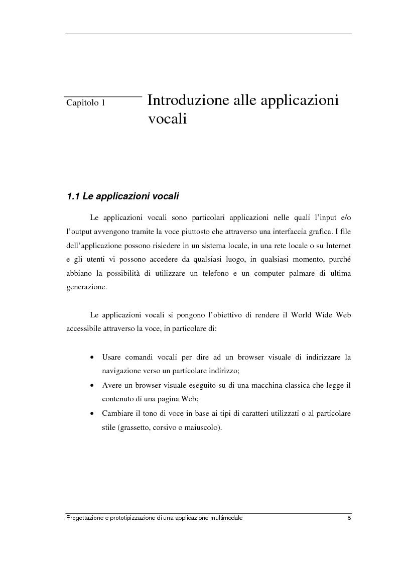 Anteprima della tesi: Progettazione e prototipizzazione di una applicazione multimodale, Pagina 4