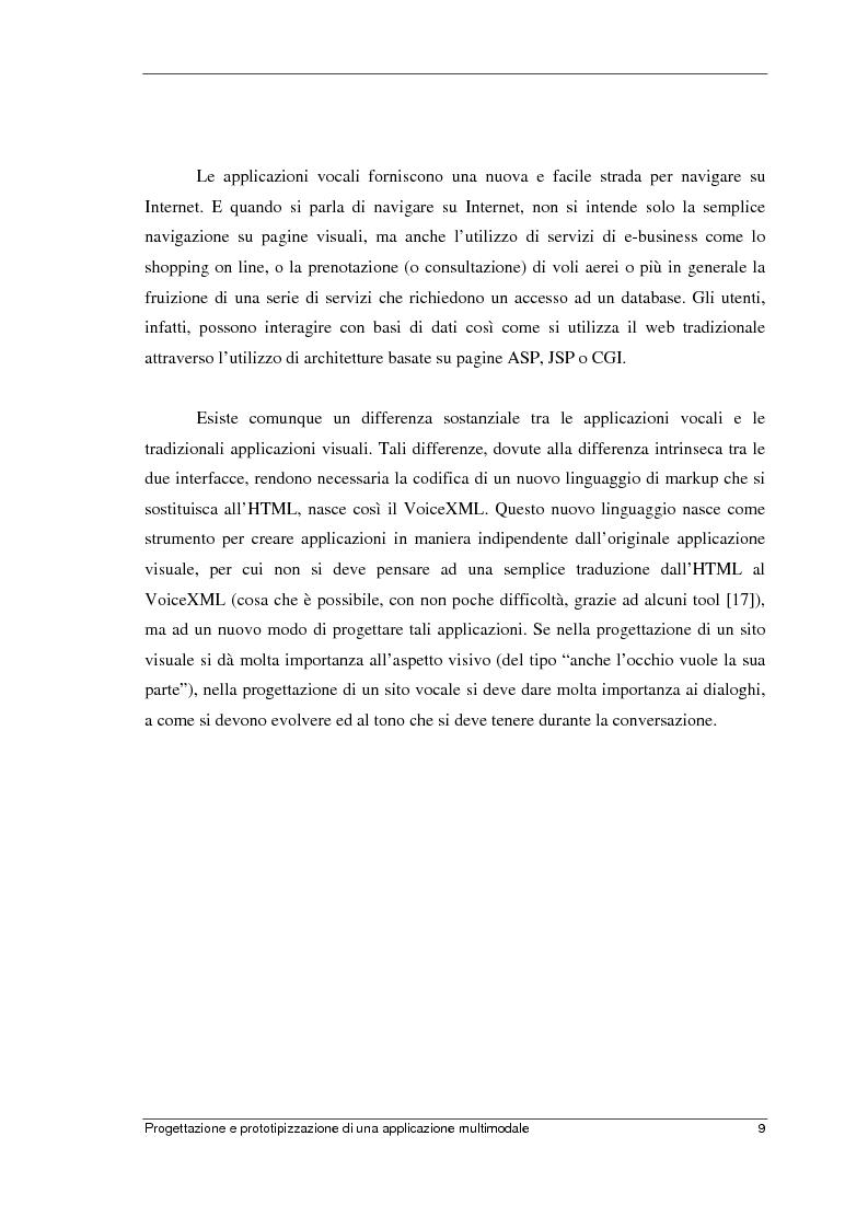 Anteprima della tesi: Progettazione e prototipizzazione di una applicazione multimodale, Pagina 5
