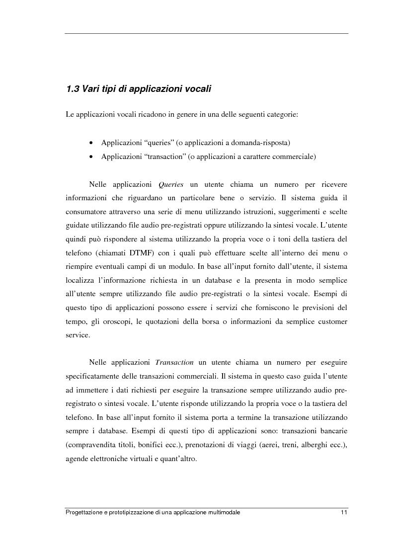 Anteprima della tesi: Progettazione e prototipizzazione di una applicazione multimodale, Pagina 7