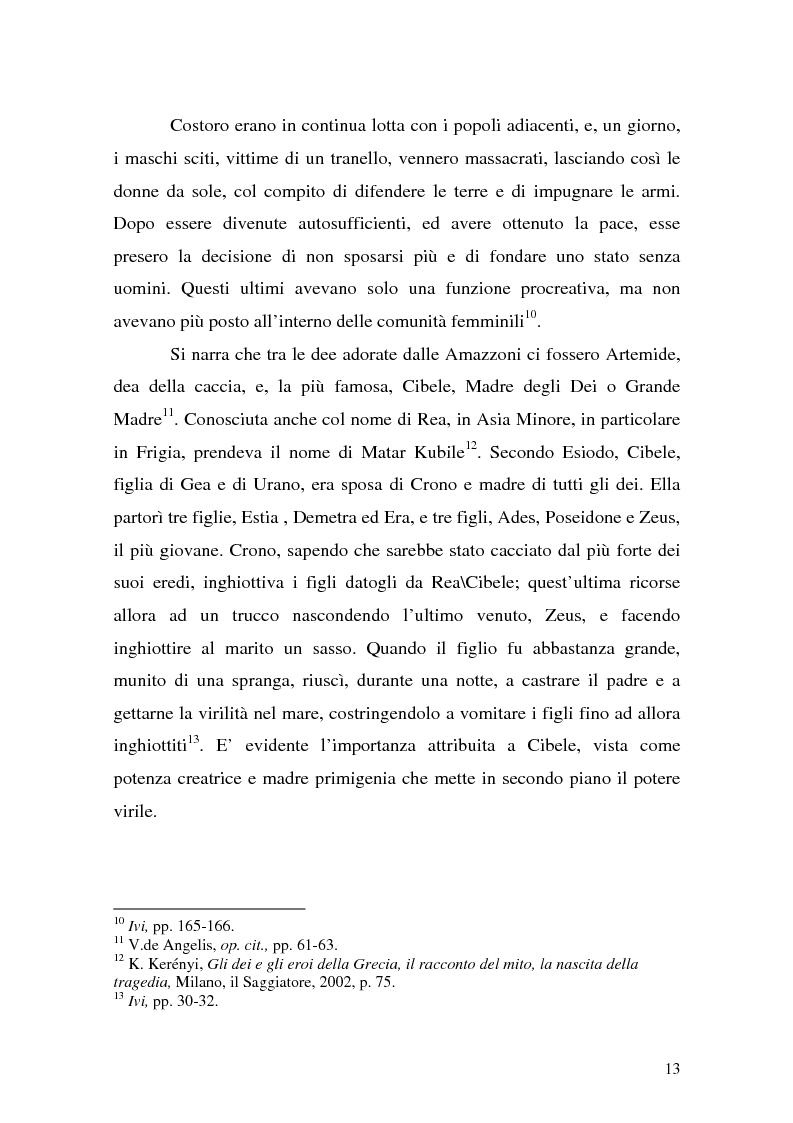 Anteprima della tesi: Pentesilea in Heinrich von Kleist e in Christa Wolf, Pagina 11