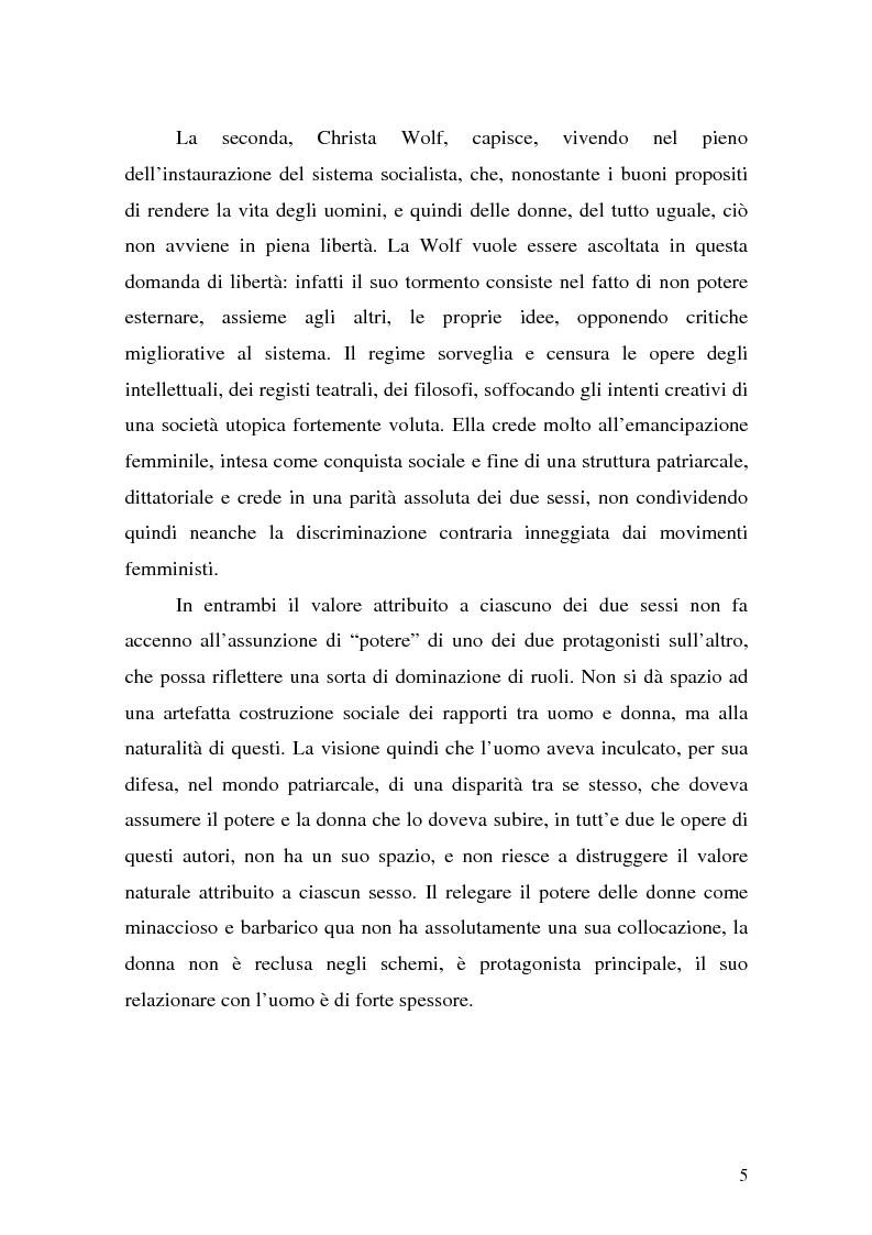 Anteprima della tesi: Pentesilea in Heinrich von Kleist e in Christa Wolf, Pagina 3