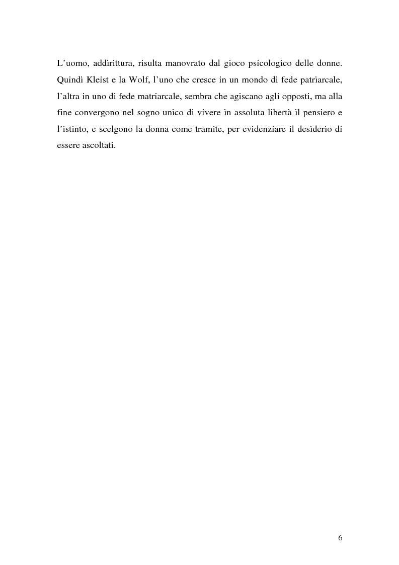 Anteprima della tesi: Pentesilea in Heinrich von Kleist e in Christa Wolf, Pagina 4