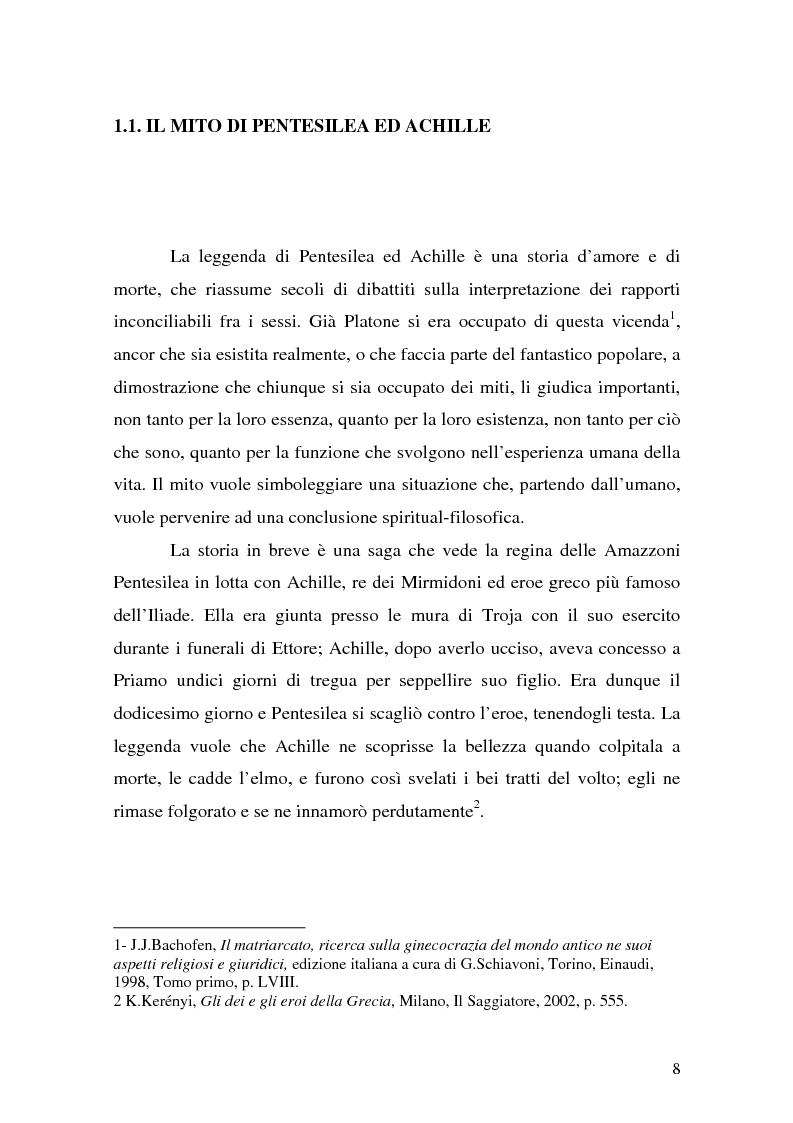 Anteprima della tesi: Pentesilea in Heinrich von Kleist e in Christa Wolf, Pagina 6