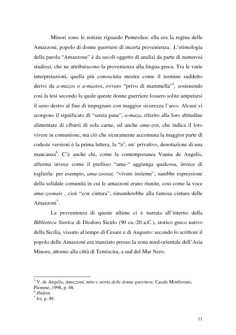 Anteprima della tesi: Pentesilea in Heinrich von Kleist e in Christa Wolf, Pagina 9