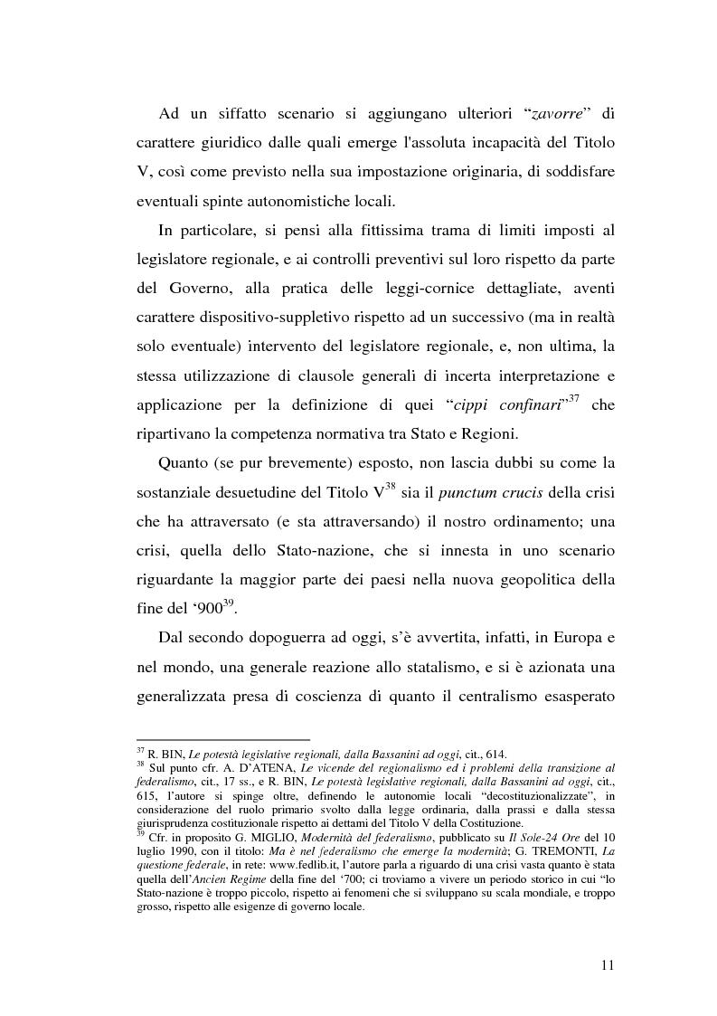 Anteprima della tesi: Il riparto della funzione legislativa fra lo Stato e le Regioni ordinarie, Pagina 11