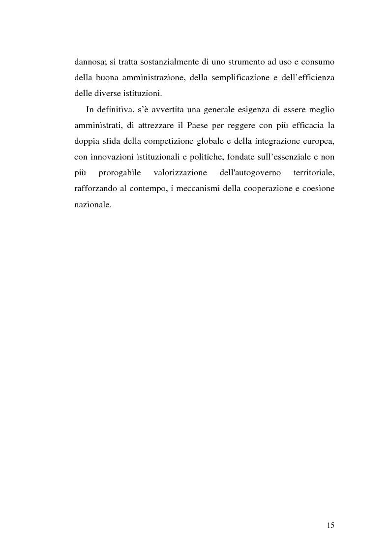Anteprima della tesi: Il riparto della funzione legislativa fra lo Stato e le Regioni ordinarie, Pagina 15