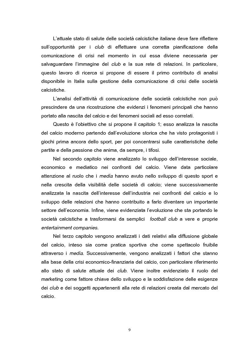 Anteprima della tesi: Le strategie di comunicazione delle società calcistiche italiane, Pagina 3