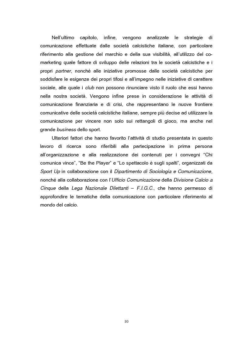Anteprima della tesi: Le strategie di comunicazione delle società calcistiche italiane, Pagina 4